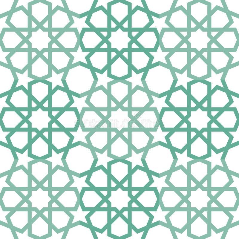Исламская картина tiling иллюстрация вектора