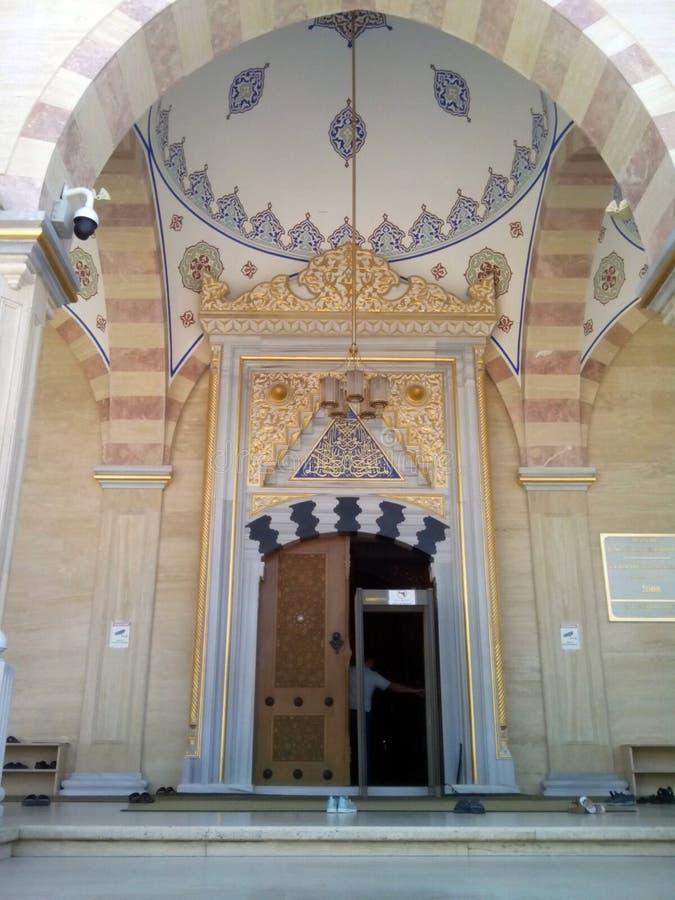 Исламская мечеть сердце Чечни город Grozniy стоковые изображения