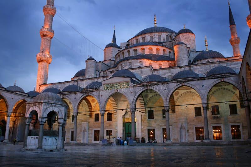 исламская ноча мечети стоковая фотография rf