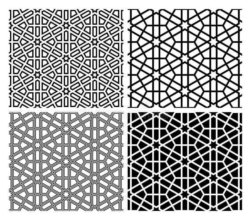 исламские картины мозаики иллюстрация вектора