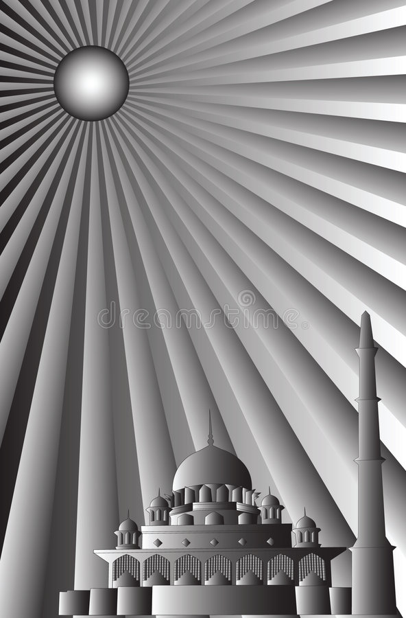 исламский вектор мечети иллюстрация вектора