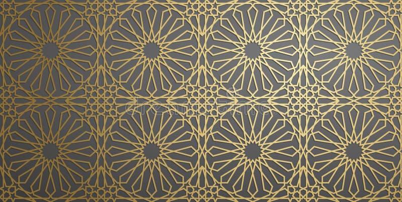 Исламский вектор орнамента, персидское motiff элементы картины 3d ramadan исламские круглые Геометрический круговой ornamental иллюстрация вектора