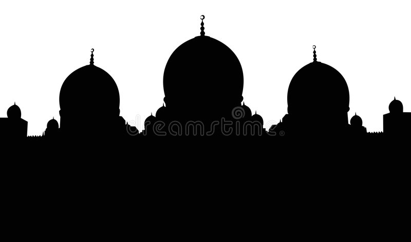 исламский силуэт мечети иллюстрация вектора
