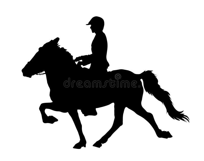Исландская лошадь в tölt иллюстрация вектора