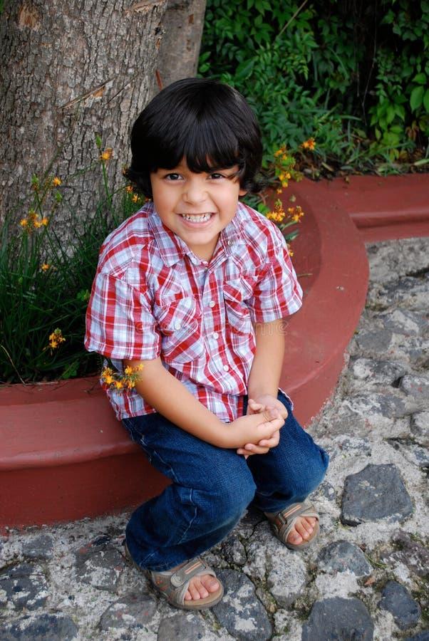 испанец мальчика милый стоковое изображение rf
