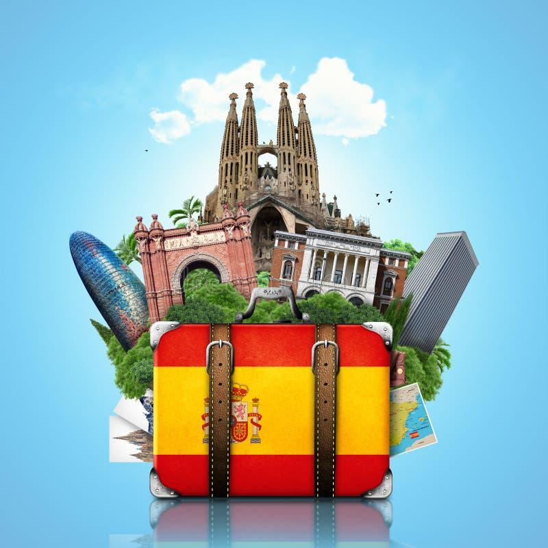 Испания, ориентир ориентиры Мадрид и Барселона, перемещение стоковое изображение