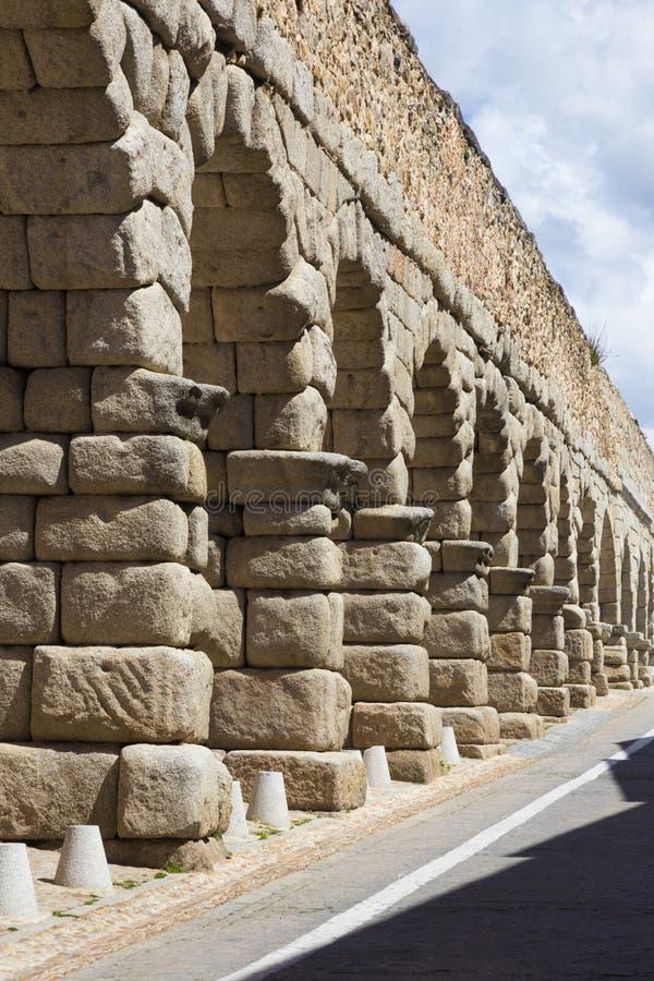 Испания, Сеговия - archs мост-водовода стоковые изображения