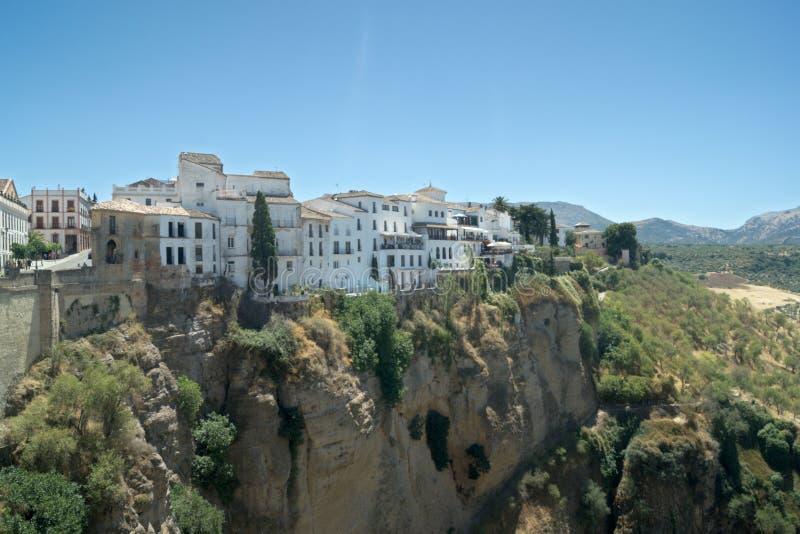 Испания, старый город Ronda, Малага Взгляд к старому Moorish кварталу стоковые изображения rf