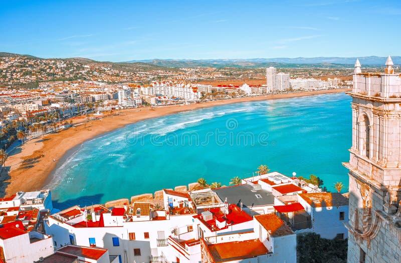 Испания valencia Взгляд моря от высоты замка стоковое изображение rf