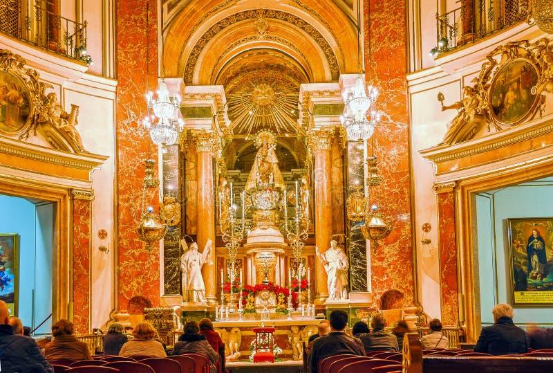 Испания valencia Внутренн BasÃlica de Ла Virgen de los Desampar стоковое фото