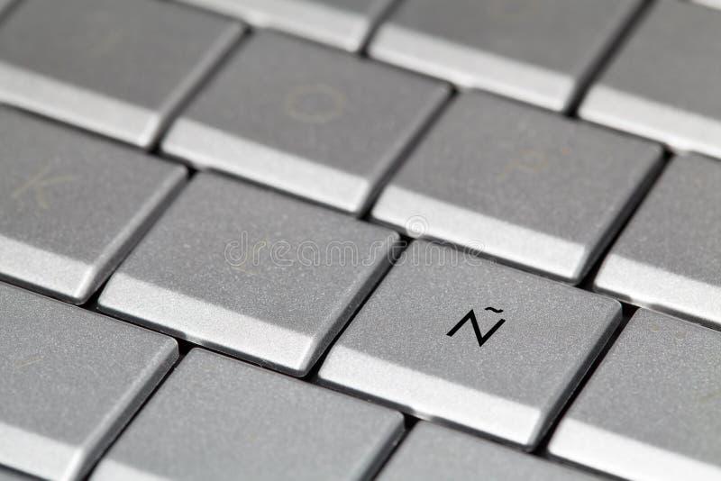 Испанская клавиатура стоковое изображение rf