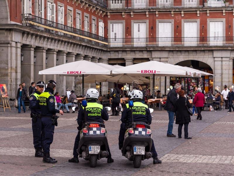 Испанская полиция Мадрид стоковое фото