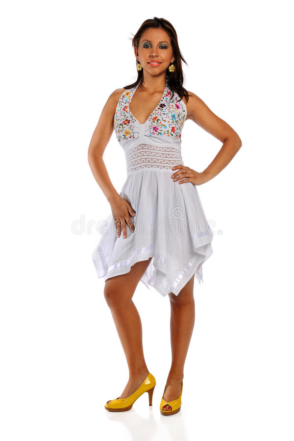 испанская стоящая женщина стоковая фотография
