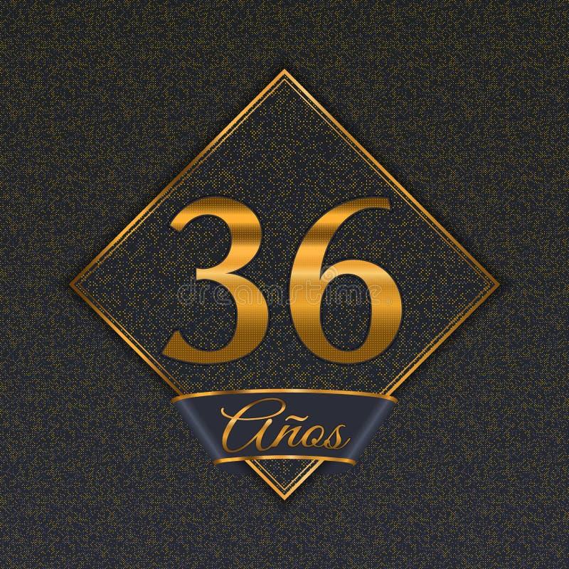 Испанские золотые шаблоны 36 иллюстрация вектора