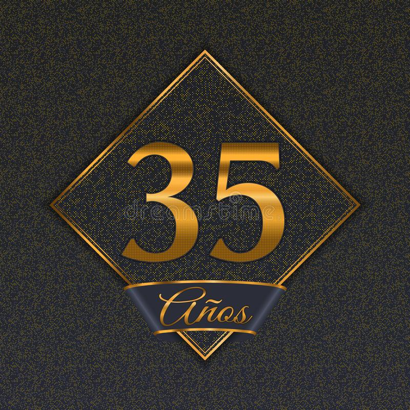 Испанские золотые шаблоны 35 бесплатная иллюстрация
