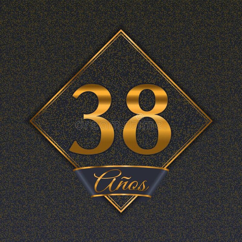 Испанские золотые шаблоны 38 иллюстрация штока