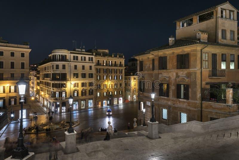 Испанские шаги и квадрат Испании в Риме, Италии стоковые изображения rf