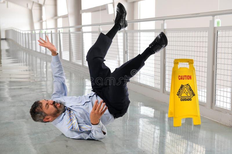 Испанский бизнесмен Fallling стоковые фотографии rf