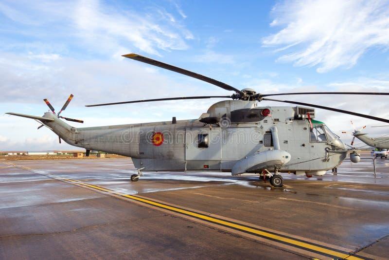 Испанский вертолет военно-морского флота стоковые изображения