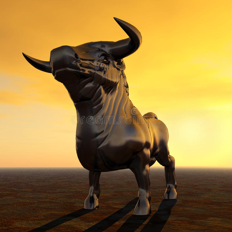 Испанский воюя Bull иллюстрация штока