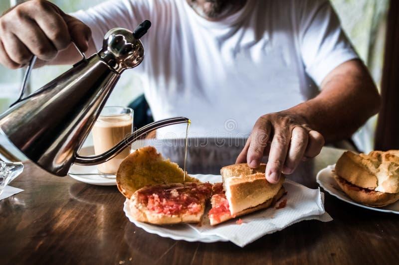 Испанский завтрак стоковые фотографии rf