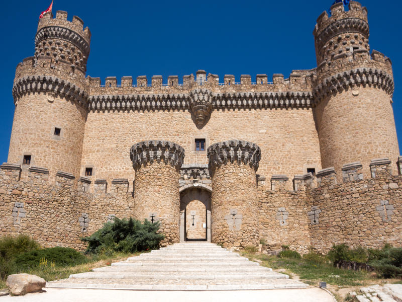 Испанский замок стоковое фото rf
