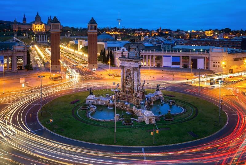 Испанский квадратный вид с воздуха в Барселоне стоковая фотография