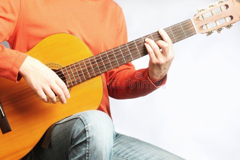 Испанский человек гитары стоковое фото rf