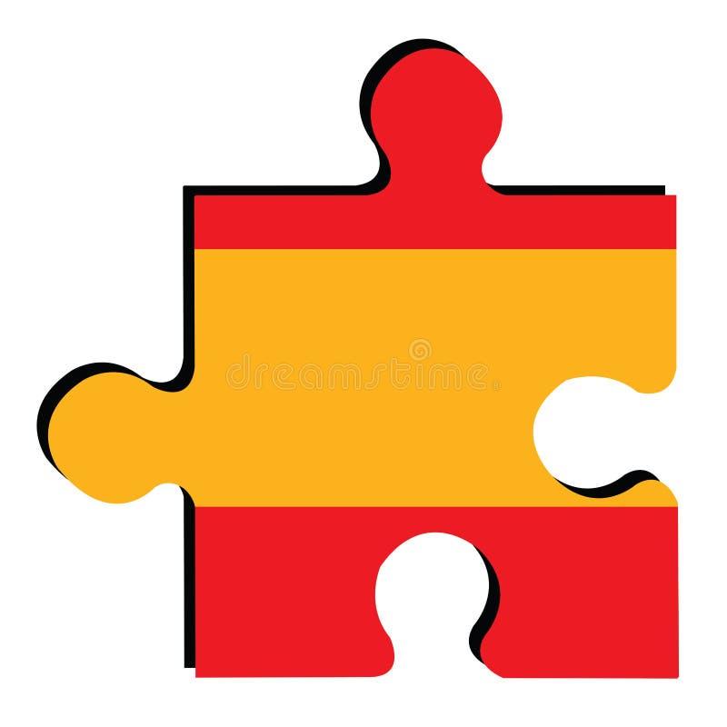 испанский язык изолированный флагом иллюстрация вектора