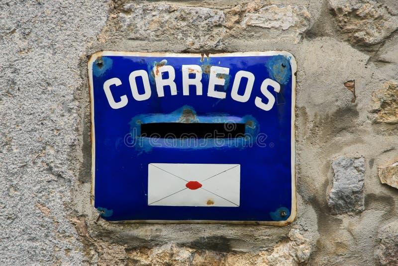 испанский язык почтового ящика старый стоковое фото rf