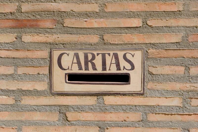 испанский язык почты коробки стоковое фото rf