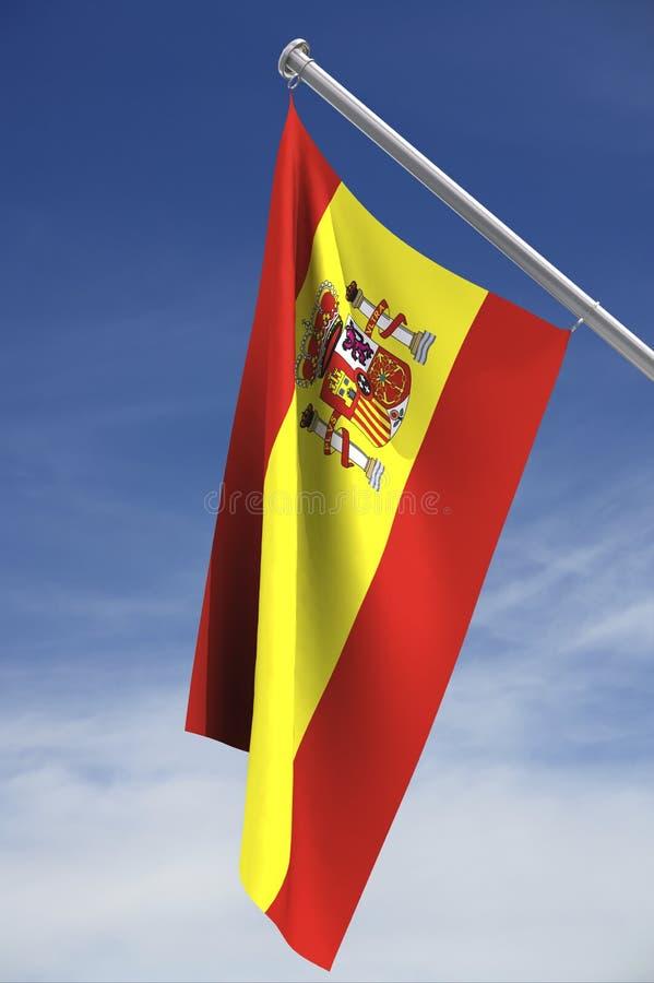 испанский язык флага иллюстрация вектора