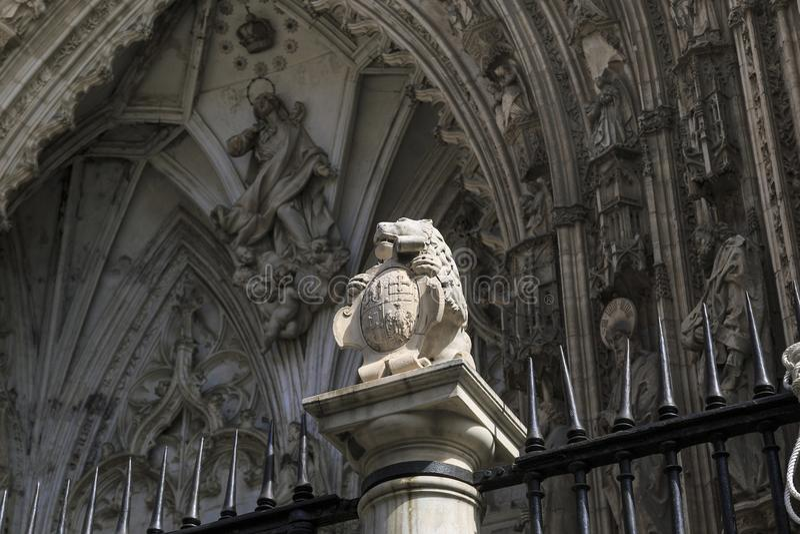 Испанское готическое в Toledo стоковые изображения
