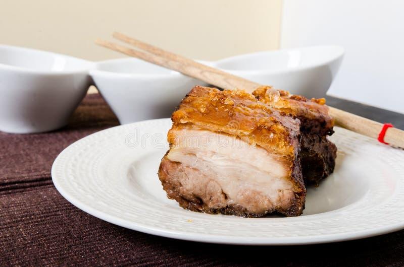 Испаренный и зажаренный в духовке живот свинины стоковая фотография rf