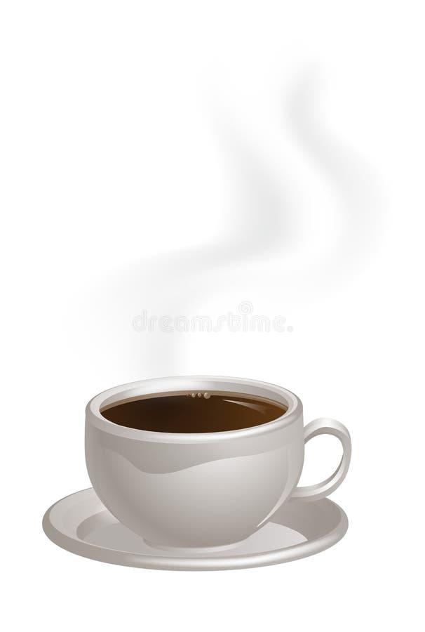 Испаряться кофейная чашка на поддоннике иллюстрация вектора
