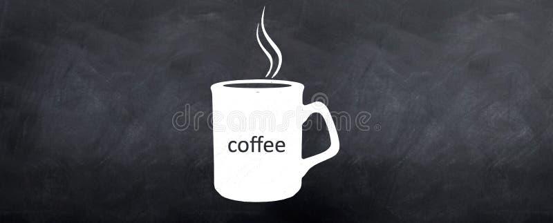 испаряться кофейной чашки горячий иллюстрация штока