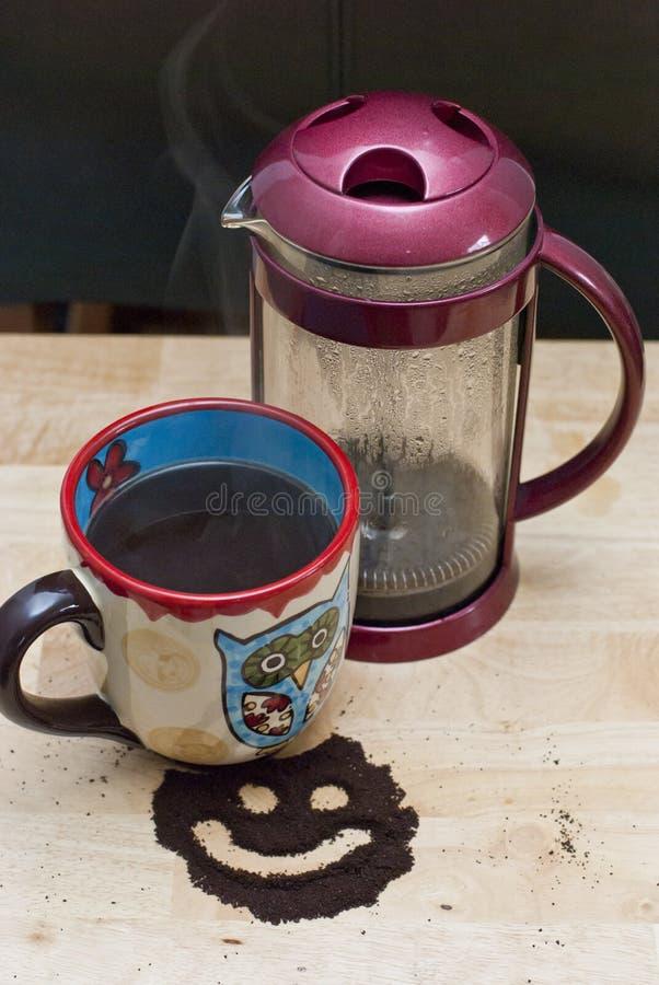 Испаряться кофе прессы француза стоковое изображение rf