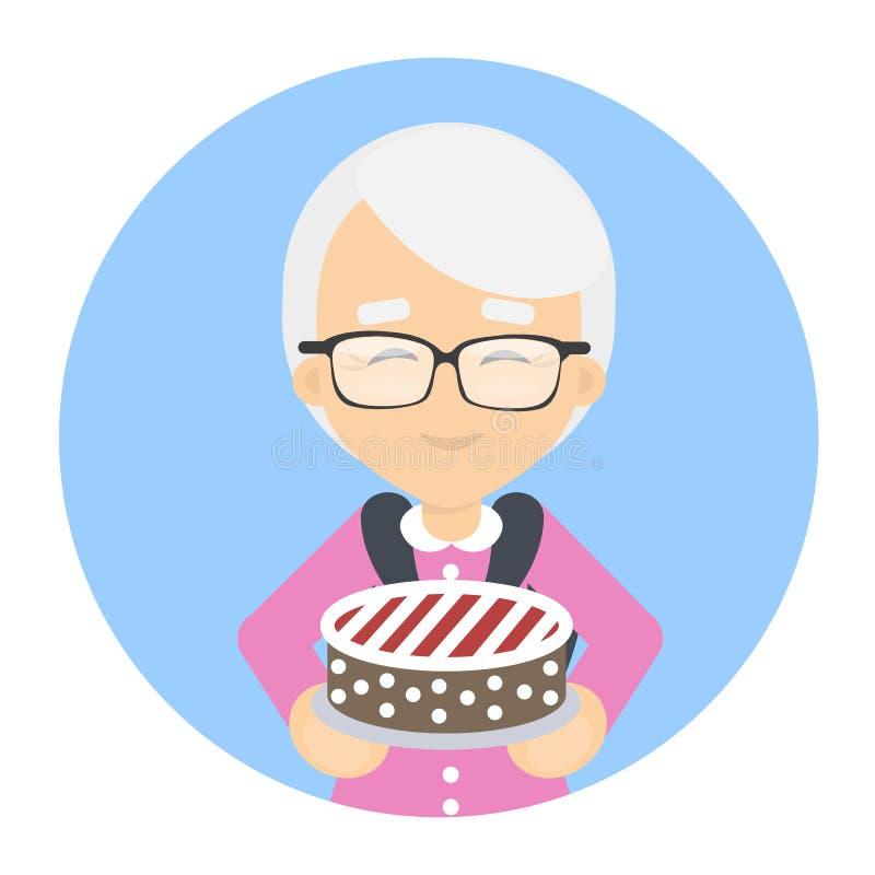испеките бабушку иллюстрация вектора