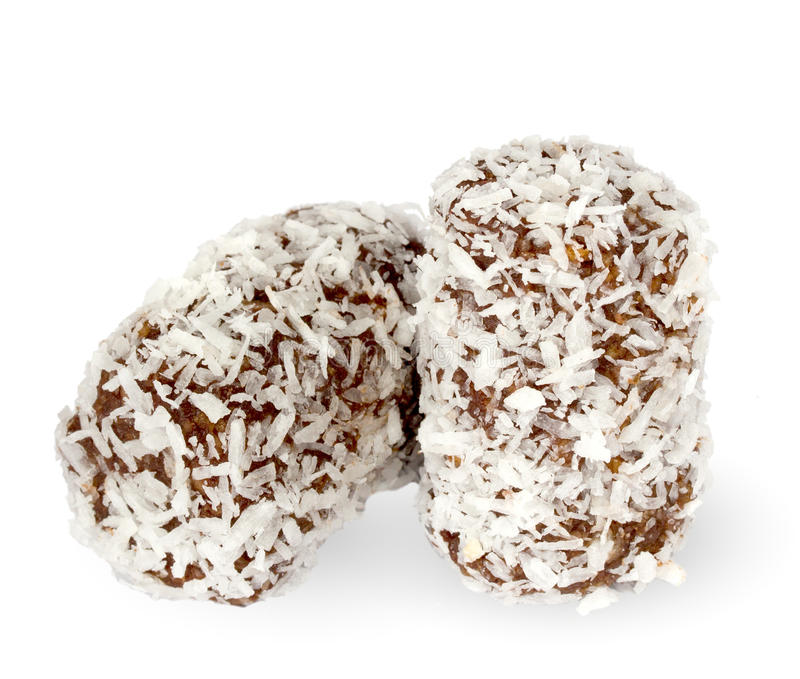 испеките кокос шоколада стоковое изображение rf