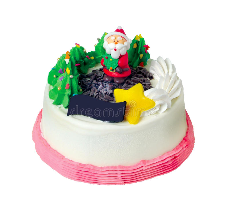 Испеките, торт мороженного рождества стоковое фото rf
