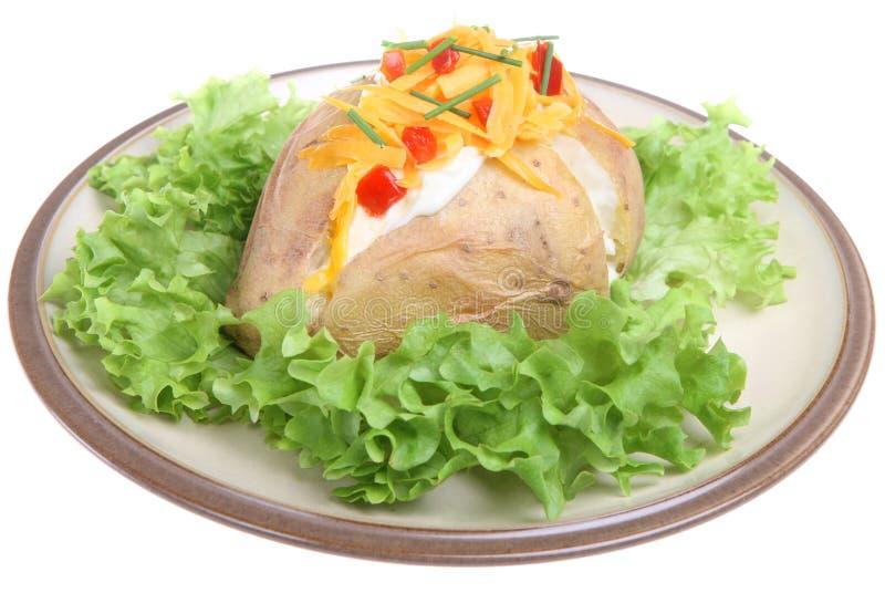 испеченная картошка сливк сыра кислая стоковое фото rf