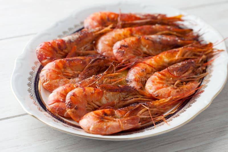 Испеченное блюдо креветки стоковые фото