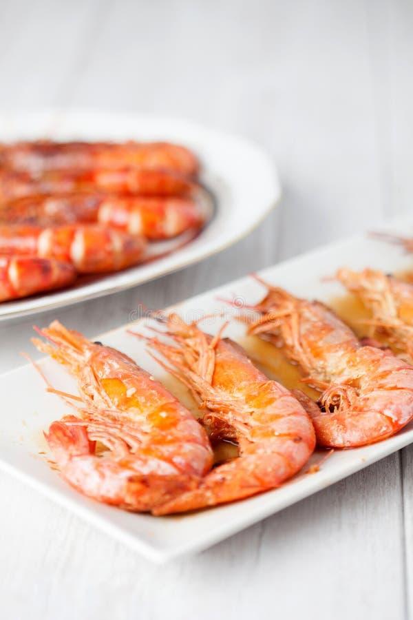 Испеченное блюдо креветки стоковое фото