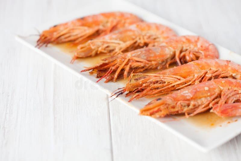 Испеченное блюдо креветки стоковые изображения