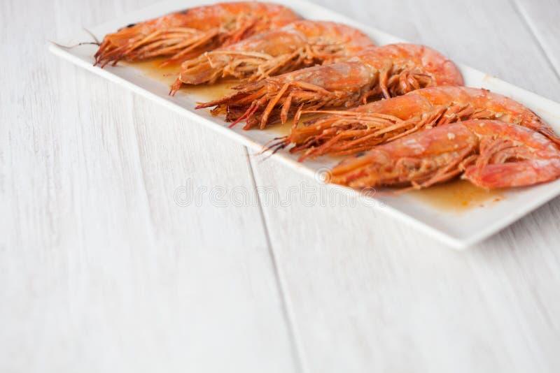 Испеченное блюдо креветки стоковое фото rf