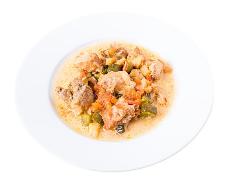 Испеченное мясо свинины с овощами стоковое фото rf