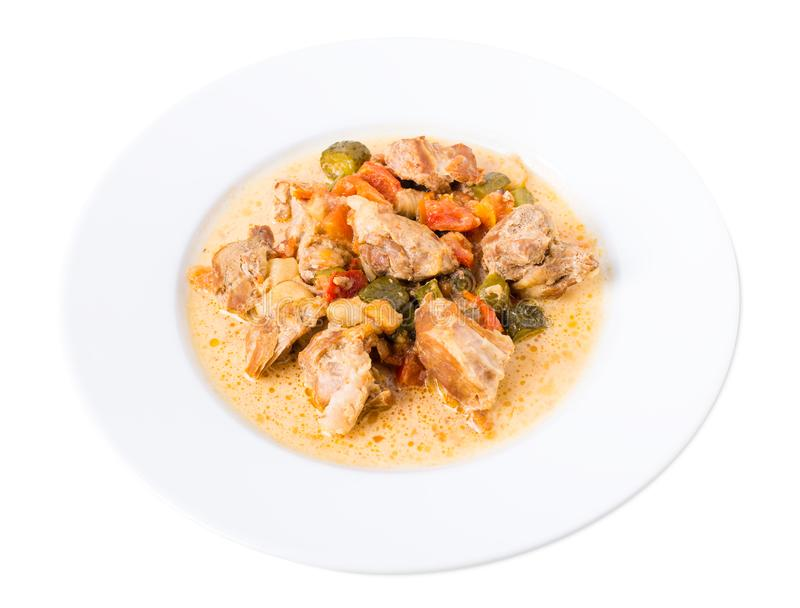Испеченное мясо свинины с овощами стоковое изображение rf