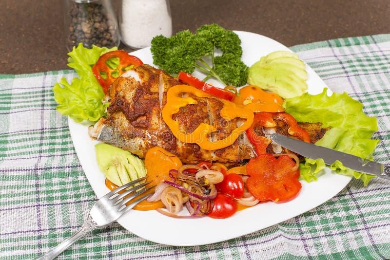 Испеченное brotola рыб стоковое фото rf