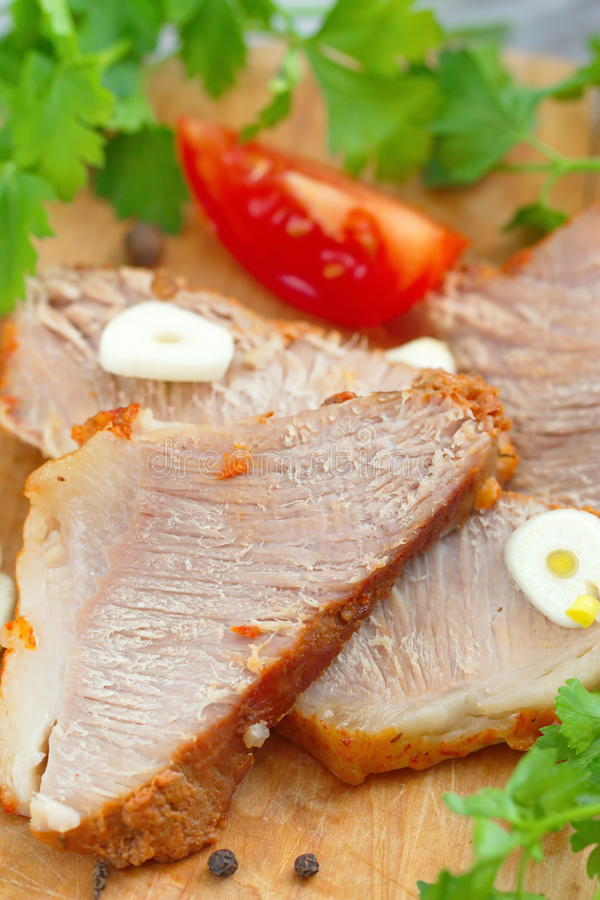 Испеченные мясо и овощи стоковое фото rf