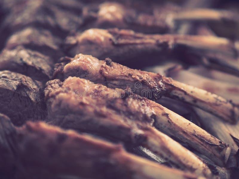 Испеченные нервюры овечки стоковое изображение